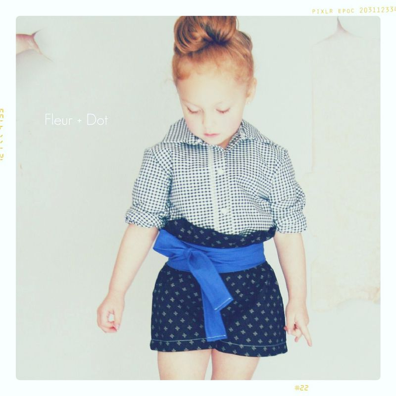 The Black Gingham Brother Collared Girls Blouse from the Fleur + Dot Autumn Winter 12 Collection - product images  of 