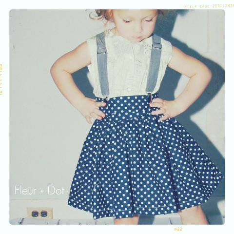 The,Extra,Full,Polka,Dot,Skirt,from,the,Fleur,+,SpringSummer12,Collection,twirl skirt, girls skirt, polka dot, navy, blue, skirt, girl, baby, fleuranddot, fleur and dot, fleur + dot, toddler, red, green, full skirt, modern, vintage, child, fashion, vintagechildmodern, handmade