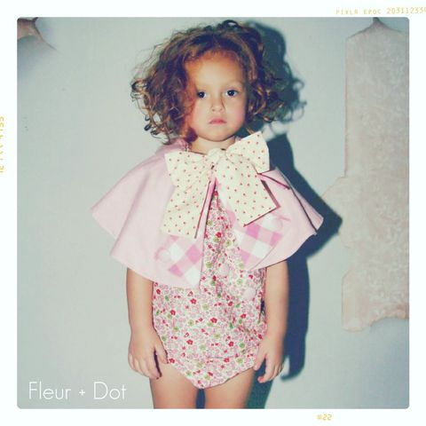 The,Florist,Peter,Pan,Collar,Cape,from,the,Fleur,+,Dot,SpringSummer12,Collection, peter pan collar, bow, bow cape, peter pan collar cape, girl, fleur and dot, fleuranddot, fleur + dot, boutique, vintage, child, modern, toddler, baby, vintagechildmodern, handmade