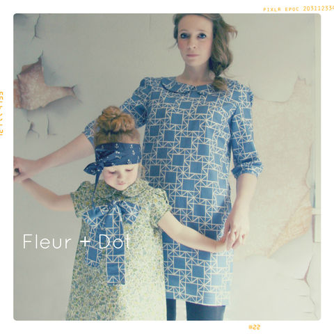 Women's,Peter,Pan,Collar,Shift,Dress,from,Fleur,+,Dot's,Women,Spring,Summer,2013,Collection,women, dress, shift dress, peter pan collar, peter pan collar shift, blue, floral, quilt, women's dress, spring, summer