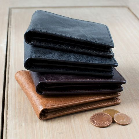 Rugged,Leather,Wallet,brown, grey, rugged, leather, casual, small, wallet, mens, teenagers, young, christmas