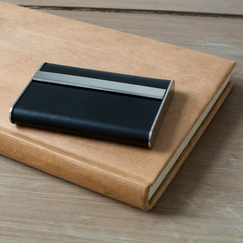 Black,Leather,Modern,Card,Case,black, leather, business, credit, card, case, networking, holder