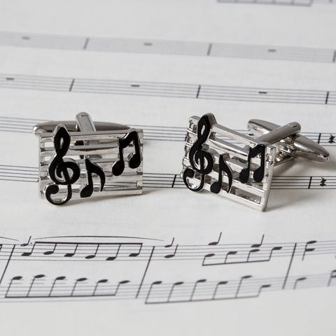 Music,Notes,Cufflinks,music, notes, note, cufflinks, musical, mens, fun, treble, clef, crochet, quaver
