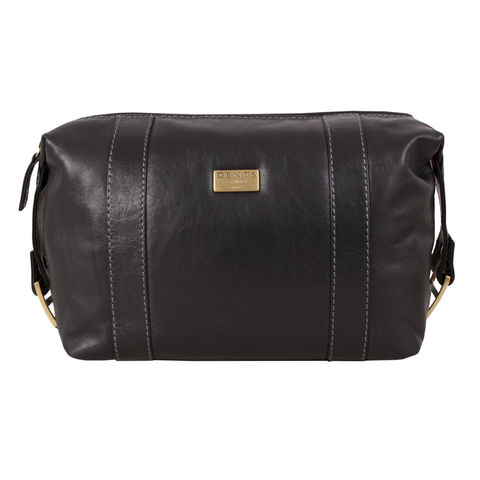 Dents,Black,Leather,Toiletry,Bag,mens, leather, dents, wash, bag, toiletry, brown, black, tan, travel