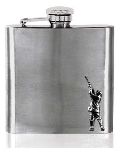 Shooting,Hip,Flask,-,can,be,personalised,shooting, gun, pewter, hip, flask, mens, mans, pheasant, gift