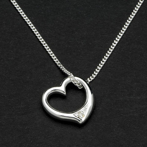 Sterling,Silver,Heart,Pendant,in,Personalised,Box,sterling, real, silver, heart, pendant, necklace, personalised, engraved, gift, lady, woman, bridesmaid