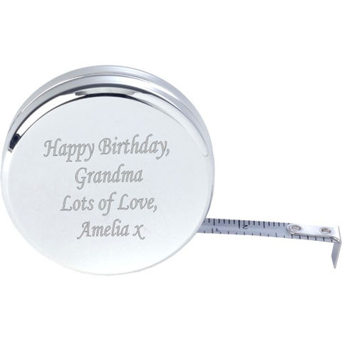 Personalised,Tape,Measure,silver, engraved, tape, measure, dress, making, gift, personalised, ladies, present, fashion, seamstress