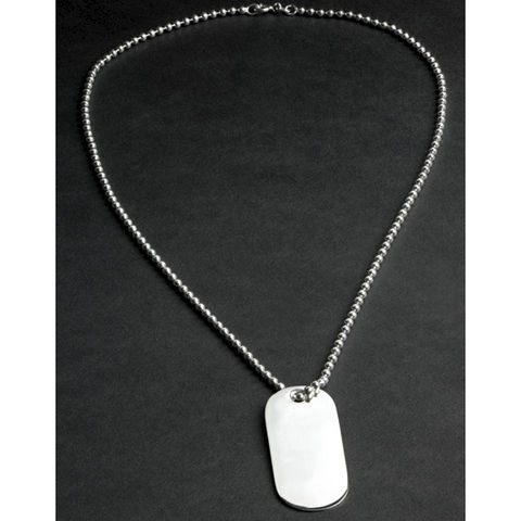 Engraved,Sterling,Silver,Dog,Tag,Necklace,sterling, silver, dog, id, tag, necklace, engraved, pendant, mens, 18th, 21st, 40th, birthday, gift