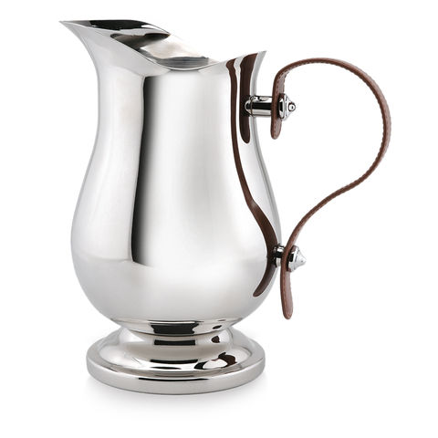 Stylish,Drinks,Jug,water, drinks, jug, stainless, steel, leather, handle, wedding, gift, present