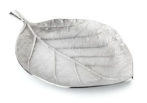 Basswood,Leaf,Serving,Platter,leaf, silver, serving, plate, platter, dish, wedding, gift,