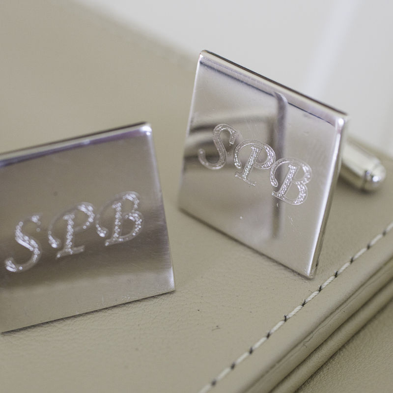 Personalised Sterling Silver Cufflinks - product image