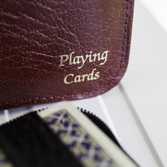 Playing Cards in Leather Case - product images  of