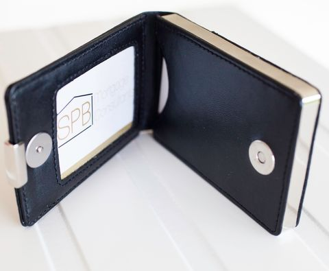 Black,Leather,Business,Card,Case,black, leather, business, credit, card, case, holder, mens, networking, gift