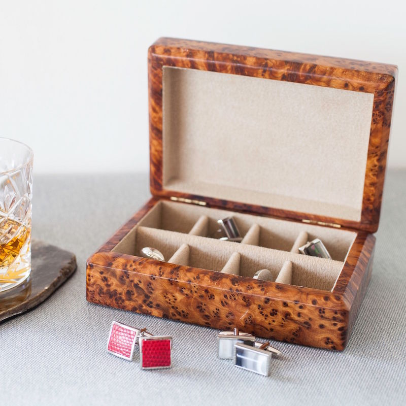 Fine Wooden Cufflink Box - product images  of
