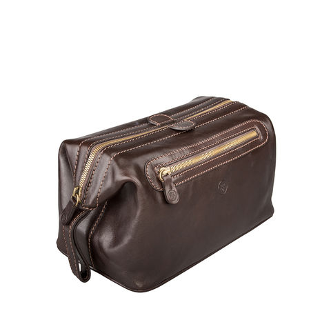 Mens,Brown,Leather,Washbag,brown, mens, leather, washbag, toiletry, bag, wash, maxwell scott