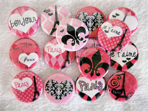 French,Rose,Pink,-,Set,of,15,Flat,Back,Cabochons,or,Pinback,Buttons,Supplies,Handmade,Cabochon,cute_cabochon,flat_back_cabochons,cute_kawaii,1_inch_25mm_circle,hair_bow_supplies,eiffel_tower,heart_love,vintage,pink_white_black,lace_vintage,fleur_de_lis,pinback_buttons,paris_france,paper,mylar,metal,graphics,pinbacks