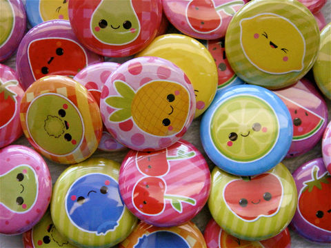 Kawaii,Fruits,Cuties,-,Set,of,28,Pinback,Buttons,Flatback,Cabochons,Supplies,Cabochon,cute_kawaii_japanese,flat_back_cabochons,pinback_buttons,hair_bow_supplies,sweet_fruits,strawberries,cherries,pineapple_kiwi,rainbow_color,deco_den_cameo,kawaii_grab_bag_mix,flatback_charm,1_inch_25mm,paper,mylar,pinback,metal