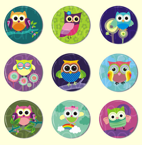 Flat,Back,Cabochons,-,Cute,Owl,Buttons,Kawaii,Grab,Bag,Set,of,9,1,inch,(Set,A),Supplies,Handmade,Cabochon,1_inch_25mm,flat_back_cabochons,bow_accessories,owl_bird_birdie,woodland_forest,animal_creature,rainbow,cabochon_buttons,flat_back_button,cute_kawaii_japanese,bottlecap_bottle_cap,cabochon_wholesale,pinback_buttons,paper,mylar,m