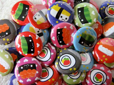 48,Kawaii,Sushi,Pinback,Buttons,-,1,inch,Party,Favors,Geekery,Accessory,Pinback_Button,kawaii,sushi,1_inch_25mm,button_flair,flat_back_cabochons,pinback_button,kawaii_grab_bag,kawaii_memo_paper,badge,pinback_button_set,cute_pinback_button,japanese_stationery,japanese_kawaii,paper,mylar,metal,graphics,pinback