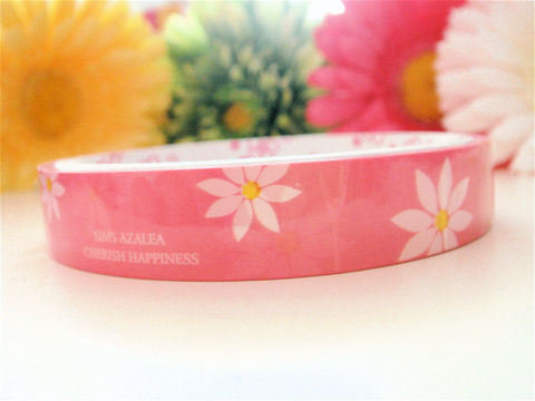 Sticker,Deco,Tape,Kawaii,-,Spring,Flowers,Pink,and,White,Daisies,Medium,Roll,Cute,Japanese,Packaging,Zakka,Supplies,Commercial,packaging,japanese_deco_tape,kawaii_sticker,kawaii_deco_tape,decorative_deco_tape,kawaii_cute_japanese,scrapbooking,embellishment,spring_flowers,daisies,sweet_pink,white,easter,deco_tape