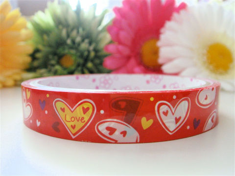 Kawaii,Deco,Tape,-,Red,and,Yellow,Hearts,Japanese,Zakka,Medium,Roll,Supplies,Commercial,packaging,gift_wrap,deco_tape,japanese_deco_tape,kawaii_deco,decorative_tape,cute_kawaii_japanese,hearts,red,yellow,sweet,valentines_day,peace_love