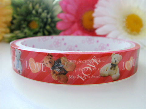 Japanese,Deco,Tape,Kawaii,-,Valentines,Day,Teddy,Bear,Love,Red,Medium,Roll,Cute,Packaging,Zakka,Supplies,Commercial,zakka,japanese_deco_tape,kawaii_sticker,kawaii_deco_tape,stationery,decorative_deco_tape,hearts,red,valentines_day,cute_kawaii,teddy_bears,love,vintage_inspired,deco_tape