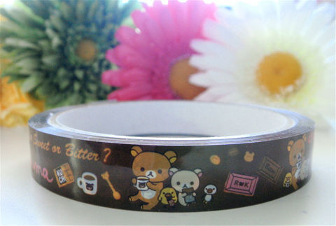 Rilakkuma,Deco,Tape,-,Chocolate,Love,San-x,Kawaii,Supplies,Commercial,packaging,deco_tape,japanese_deco_tape,kawaii_deco,decorative_tape,bear,rilakkuma,cute_kawaii_japanese,rilakkuma_sticker,sanx,rilakkuma_deco_tape,chocolate,kawaii_sweets