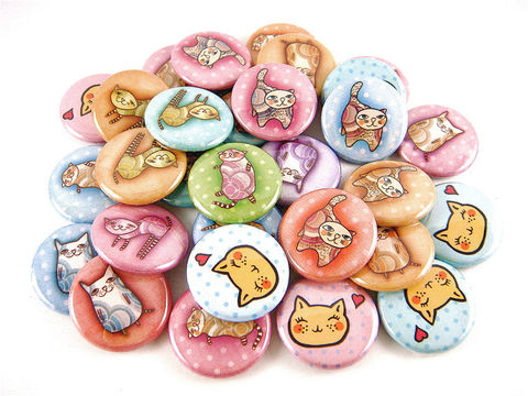 30,Whimsical,Cats,-,Animal,Pinback,Buttons,or,Flat,Back,Cabochons,1,inch,25,mm,Round,Accessories,Pinback_Button,pinback_buttons,pet_animal_lover,whimsical_cat,quirky_humor,flat_back_cabochons,cat_kitten_kitty,cat_is_love_heart,meow,wholesale,humor_inspirational,pin_back_flatback,rescue_animals,cat_pins_buttons,paper,mylar,metal,gra