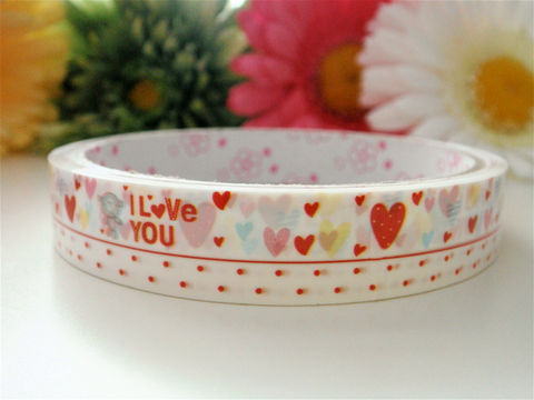 Japanese,Deco,Tape,-,Valentines,Day,I,Love,You,Hearts,Supplies,Commercial,deco_tape,zakka,japanese_deco_tape,kawaii_deco,decorative_tape,kawaii_sticker,cute_kawaii_japanese,valentines_day,red_hearts,i_love_you,polka_dots,valentines,kawaii_deco_tape