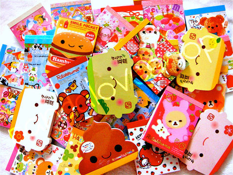 Kawaii,Memo,Sheet,Mini,Mix,(50pc),Japanese,Stationery,Grab,Bag,Lot,kawaii_grab_bag, kawaii_grabbie, kawaii_mix, kawaii_memo, memo_grab_bag, kamio, crux, mindwave, cute, japanese, kawaii_stationery