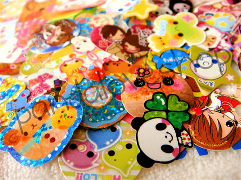 Kawaii,Sticker,Flakes,Mix,(50pc),Japanese,Grab,Bag,Lot,sticker_flakes, sticker_sack, kawaii_grab_bag, kawaii_mix, kawaii_lot, japanese, cute