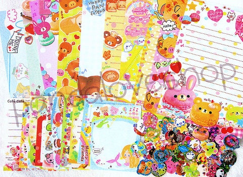 75,piece,Kawaii,Grab,Bag,-,Memo,Sheets,and,Sticker,Flake,Mix,Lot,kawaii_grab_bag, kawaii_memo, kawaii_stickers, kawaii_sticker_flakes, sticker_sack, kawaii_mix, japanese, cute, stationery, supplies