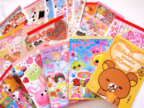 Kawaii,Large,Memo,Sheet,Grab,Bag,(50pc),Japanese,Stationery,Mix,Lot,kawaii_grab_bag, kawaii_memo, kawaii_lot, kawaii_mix, japanese, cute, stationery, supplies, kamio, crux, memo_pad