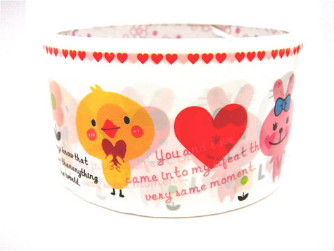 Animal,Love,-,Kawaii,Deco,Tape,Large,Japanese,Cute,large_deco_tape, animals, cute_kawaii, deco_tape, kawaii, japanese, cute, decorative_tape, washi_tape