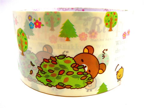 Rilakkuma,Deco,Tape,-,Forest,Friends,Sanx,Kawaii,Japanese,Large,rilakkuma, relax_bear, deco_tape, kawaii, japanese, cute, decorative_tape, washi_tape, san_x