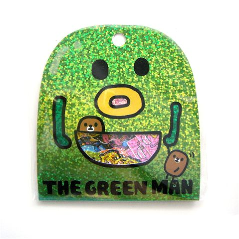 Mind,Wave,Green,Man,Sticker,Sack,sticker_sack, kawaii_stickers, sticker_flakes, mind_wave