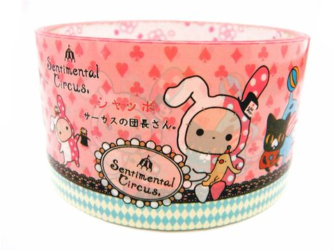 San-X,Sentimental,Circus,-,Kawaii,Deco,Tape,Japanese,Pink,Large,Roll,sentimental_circus, deco_tape, kawaii, japanese, cute, decorative_tape, washi_tape, san_x, san-x