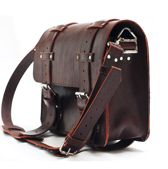 Leather portmanteau bag in Heavy Full Grain Limited edition leather - product images  of
