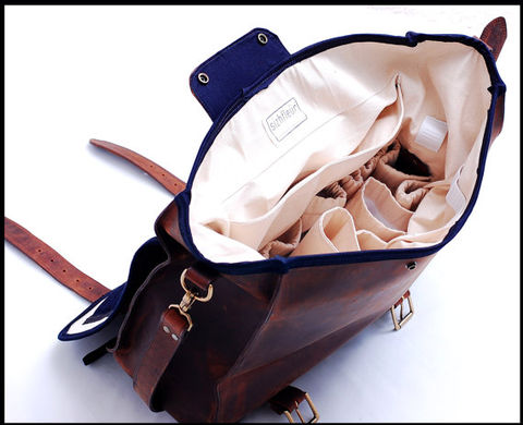 Unisex Leather Bag for any specialty in Full Grain Leather - Mustang - product images  of