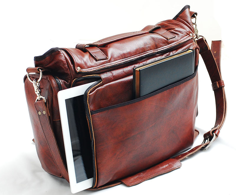 Handmade Leather messenger bag handmade 22 inch leather cross body ...