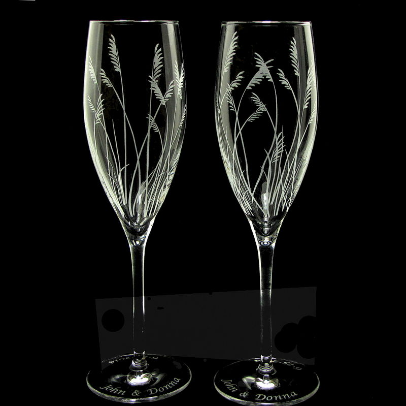Sea Gr Champagne Gles Rustic Beach Wedding Toasting Flutes Product Images Of