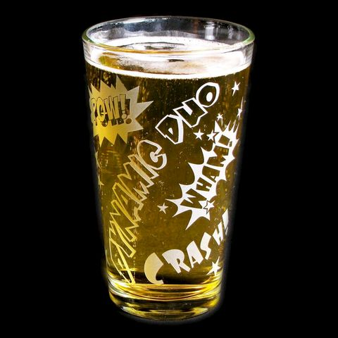 Superhero,Beer,Glass,,Comic,Book,Style,Groomsmen,Gifts,Comic Book, Superhero, super hero, dynamic duo, wedding glasses, etched glass, pint glass, beer glass, 2, groomsmen gifts
