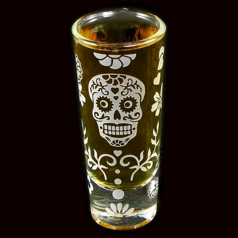 Day,of,the,Dead,Shot,Glass,,Calavera,day of the dead, Shot Glasses, Dia De Los Muertos, groomsmen gift ideas, sugar skull wedding, bradgoodell, brad goodell, the wedding gallery