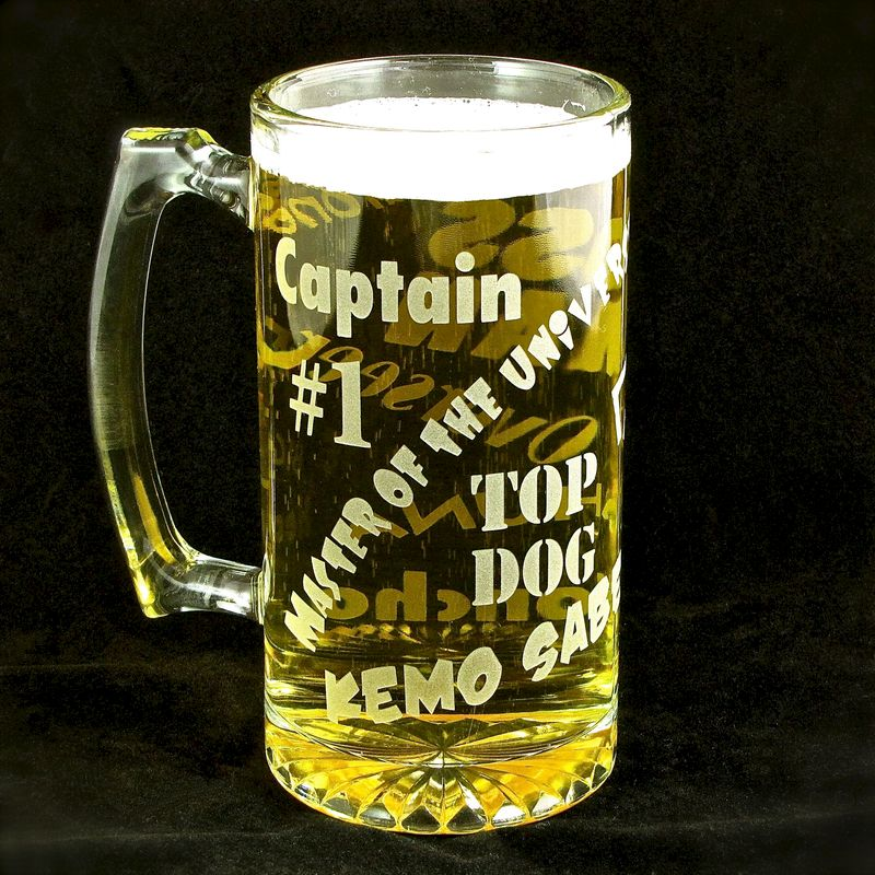 Boss Man Beer Stein, Gift for Man, Boss, Husband or Dad, Man Cave - product images  of
