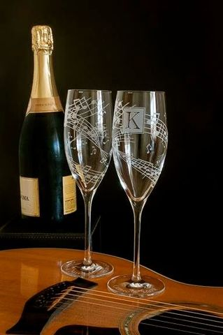 Musical,Wedding,Toasting,Glasses,,Concert,or,Music,Lovers,The wedding gallery, bradgoodell, Brad Goodell, music themed wedding, monogrammed champagne flutes, music note champagne glasses, personalized champagne flutes,  crystal champagne flutes, wedding toasting flutes, music note, personalized, engraved champag
