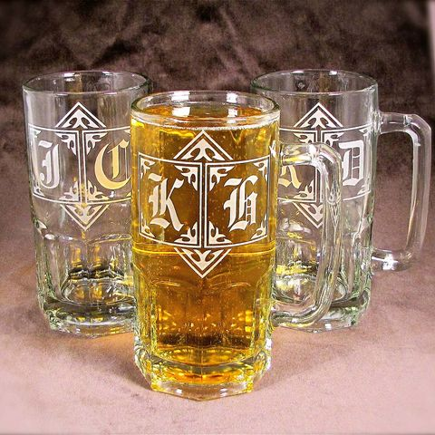 4,Giant,1,Liter,Beer,Steins,,Monogrammed,Gifts,for,Groomsmen,,Wedding,Party,giant beer mug, Giant, one liter, beer mug, monogrammed beer mug, beer stein,personalized,monogrammed,etched_glass,beer_glass,unique_gifts_for_men,cool_gifts_for_men,beer_lover_gift,personalized_gift,monogrammed_gift,one_liter, brad goodell, bradgoodell