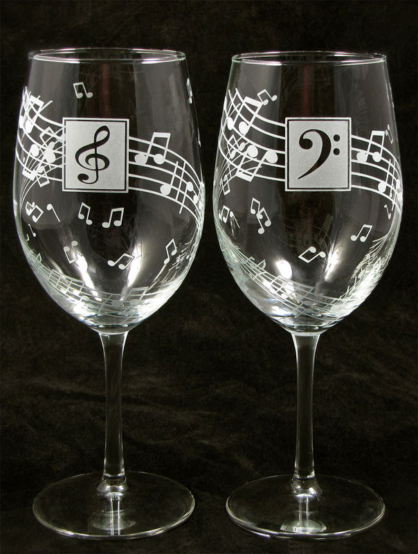 Music Wine Glasses Personalized Gift For Music Lover Musician