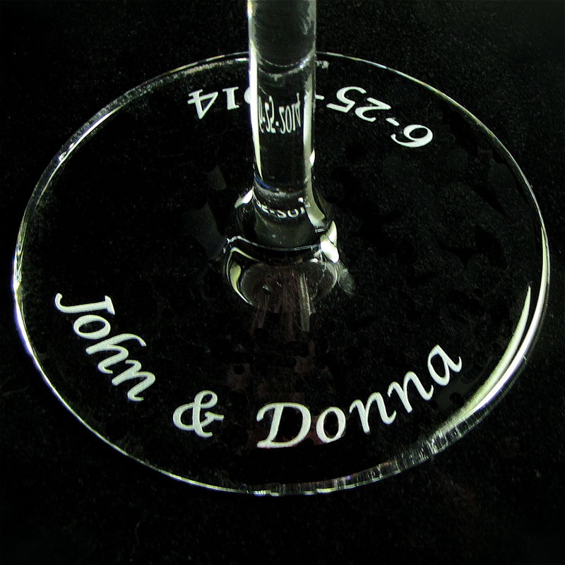 Personalized Destination Wedding / Beach, 2 Wedding Toasting Flutes - product images  of