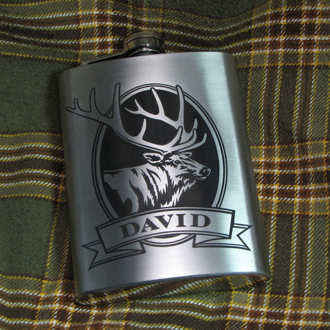 Personalized,Elk,Hip,Flask,,Gift,Idea,for,Man,,Birthday,Present,Men, wolf Personalized Hip Flask with moose, bass, trout, fish Engraved Gift for Man, Gift for Groomsman, gift for man, dad, fathers day