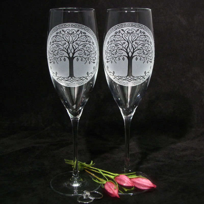 Celtic Tree Of Life Champagne Gl Irish Wedding Gifts For Couple Product Images Of